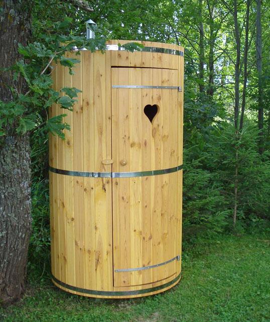 Porta rifiuti da giardino in legno hydrius saune - Bagni prefabbricati per esterno ...
