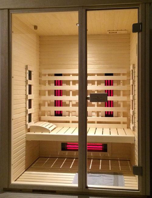 Sauna ad infrarossi modello malta in betulla misura x x h m con pannelli ad infrarosso al quarzo - Prezzi sauna per casa ...