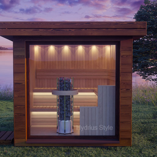 Sauna Da Terrazzo Sfondo