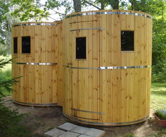 Bagni in legno da esterno idee creative e innovative - Bagni prefabbricati per esterno ...