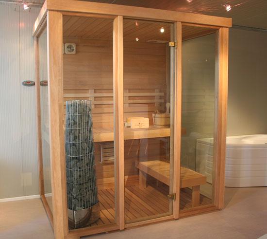 Sauna 03 lati vetrati - Costo sauna in casa ...