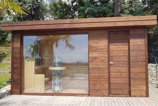 Casetta Da Giardino In Legno Usata : Saune casetta con stufa a legna hydrius