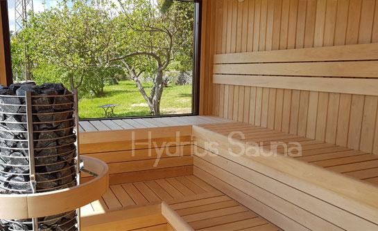 Saune casetta con stufa a legna hydrius SAUNE