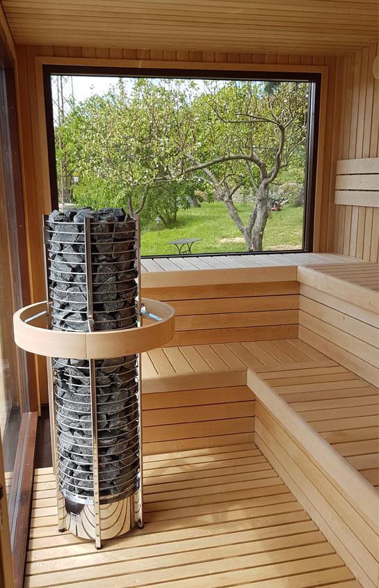 Parete Esterna Vetrata : Saune casetta con stufa a legna hydrius