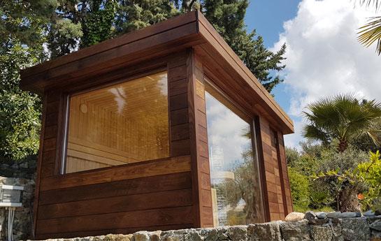 Saune casetta con stufa a legna hydrius saune for Costruire una sauna